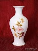 Hollóházi nagy, virágos váza (36 cm magas)