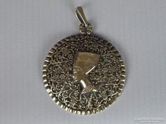 0I130 Régi egyiptomi női bross medál