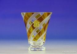 0I322 WASUNGEN csiszolt borostyán sárga pohár