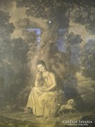 P115 Antik angol nagyméretű litográfia 1774