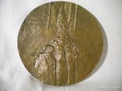 P405 Régi művészi bronzplakett