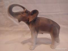 Royal Dux porcelán elefánt szobor