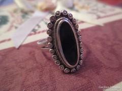 Régi Onix köves ezüst gyűrű
