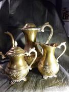 Keleti 3 darabos réz kávés kiöntő készlet
