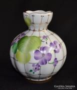 Kézzel festett ibolyamintás Lomonosov váza