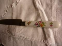 3 db antik kézzel festett porcelán nyelű kés