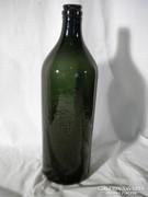 R105 Régi méregzöld Budafoki boros palack