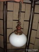Antik fa törzsű lámpa eladó!