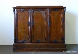 0I487 Antik Bécsi barokk szekrény 1850