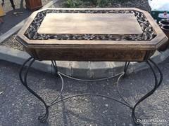 Antik  rózsafa  konzol asztal