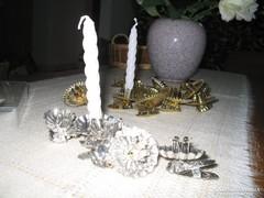Karacsonyi 17db gyertyatartó csipesz  retro