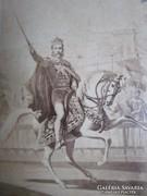 1867 Ferenc József eredeti fotó koronázás KORONA LÁNCHÍD