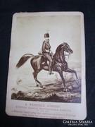 1878 Ferenc József lóvagló kép korabeli fénynyomat