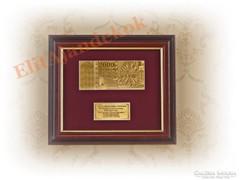 24K arany Millenniumi 2000 forintos bankjegy