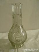 Z087 Régi vastagfalú kristály üveg váza