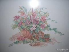 KépTűgobelin - nagy - gyönyörű - aprólékos- ízléses pasztell - kép minta 35 x 27 cm - kép 53 x 43 cm