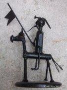 Egy modern alkotás-Don Quijote nemes lovag -fém szobor