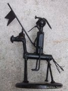 Vasember-Don Quihote fém-lemezszobor-figura 20 cm