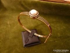 Gyöngyös - gyémántos arany karreif / karkötő