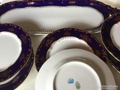 Zsolnay Pompadur porcelán szendvicskészlet