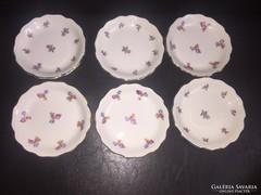 6 db. Aquincumi pici tányérkák, 9 cm.