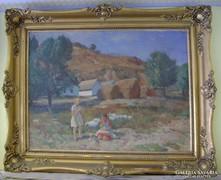 Czencz János (1885-1960) / Libapásztor lányok