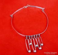 Designer ezüst nyakpánt