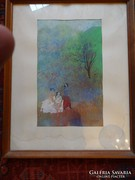 Kudász Emese 35x21 cm akvarell papír