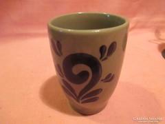 Kézzel festett kerámia pohár Á0113