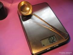 Ezüst merőkanál 102 gramm 4 cl 800-as 22 cm 1867-1937