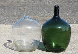 0I949 Régi boros demizson üveg palack 2db 20 L