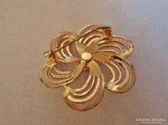 Csodás antik aranyozott gyöngyös  bross