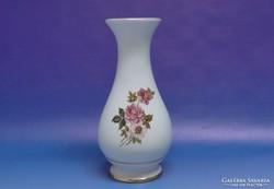 0J327 Hollóházi porcelán váza díszváza 19 cm