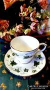 Duchess márkájú Ivy (Borostyánlevél) angol porcelán duó