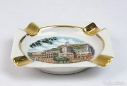 0J839 Régi jelzett Francia porcelán hamutál
