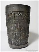 Antik ón díszpohár 1900-as évek eleje