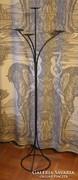 Kovácsolt vas 4 ágú álló gyertyatartó