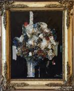 Csató György Virágcsendélet olaj, vászon 55 x 46 cm