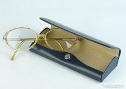 0K275 Használt szemüveg keret bőr tokban