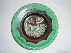 Kerámia fali tányér - Kántor Sándor Karcag - madaras