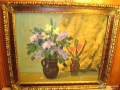 Somogyi Imre: Csendéletes Képcsarnokos festménye eladó
