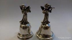 Ezüst csengők angyal figurákkal