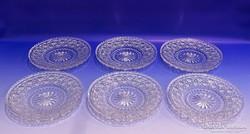 0K074 Hat darabos ólomkristály tányér készlet