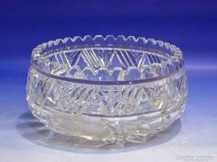 0K099 Csiszoltüveg asztalközép kínáló tál