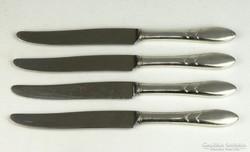 0K274 Régi alpakka evőeszköz készlet 4 db kés