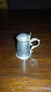 Ezüst miniatűr korsó