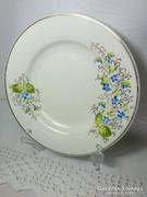 Vastag arany peremes virág festett régi fali kis tányér