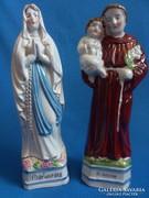 Szent Antal,és Szűz Mária antik porcelánszobrok