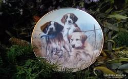 Angol kutyusos gyűjtői tányérok