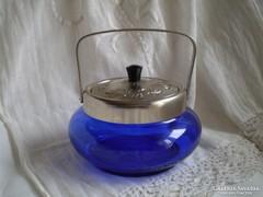 Orosz kék üveg tároló